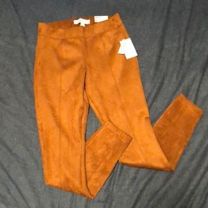 Brown suede Capri pants